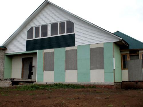 Дом из ЦСП оштукатуренный