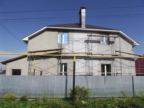2011 Дмитриевка оштукатуренный фасад